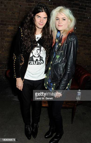 Alison Mosshart and brother Matthew Mosshart attend a party hosted by Equipment celebrating the release of 'Paris Spleen The Kills Live At L'Olympia'...
