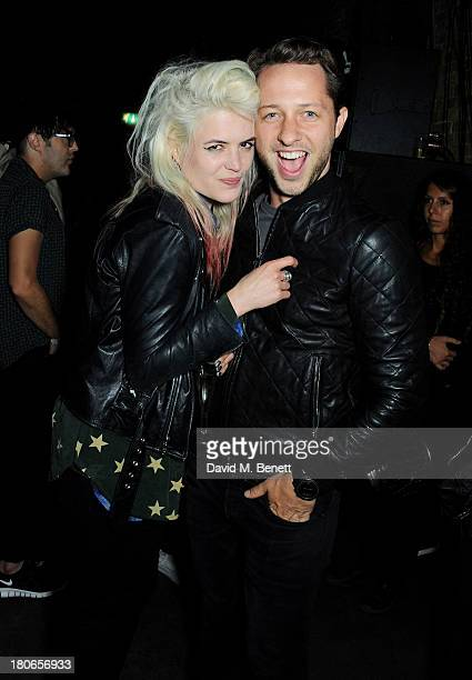 Alison Mosshart and Derek Blasberg attend a party hosted by Equipment celebrating the release of 'Paris Spleen The Kills Live At L'Olympia' during...