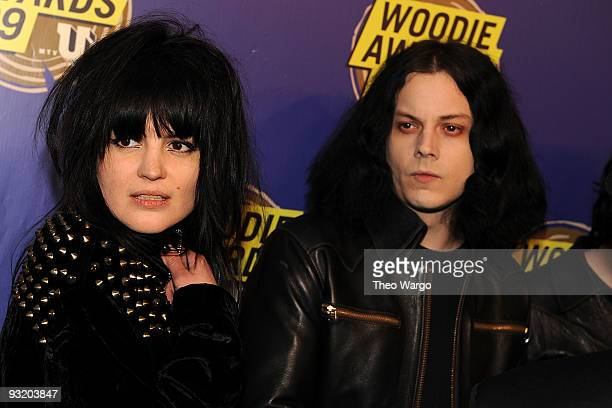 Alison Mosshart and Jack White of The Dead Weather attend the 2009 mtvU Woodie Awards at the Roseland Ballroom on November 18 2009 in New York City