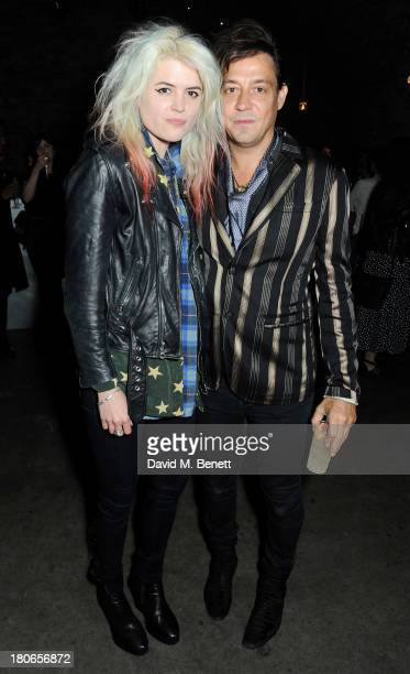 Alison Mosshart and Jamie Hince attend a party hosted by Equipment celebrating the release of 'Paris Spleen The Kills Live At L'Olympia' during...