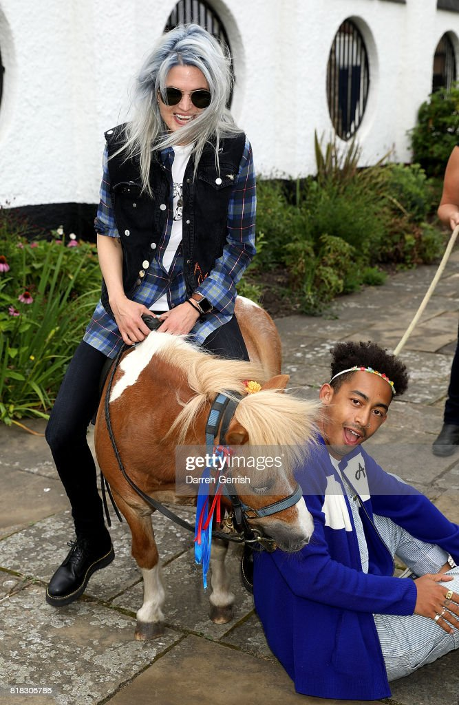 Alison Mosshart and Jordan Stephens attend the J Brand x Bella Freud garden tea party on July 18, 2017 in London, England.