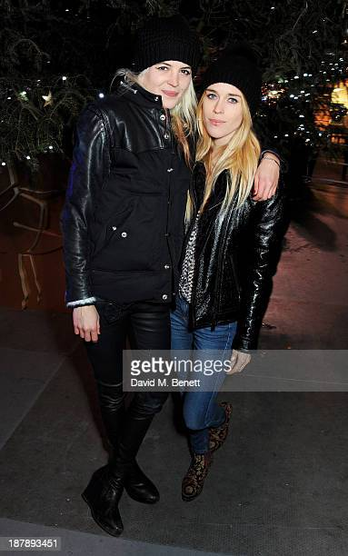 Alison Mosshart and Mary Charteris attend the VIP launch of 'Coach Presents Skate' at Somerset House on November 13 2013 in London England