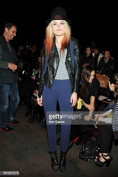 Alison Mosshart attends the Rag Bone Women's fall 2013 fashion show during MercedesBenz Fashion Week at Skylight Studios at Moynihan Station on...