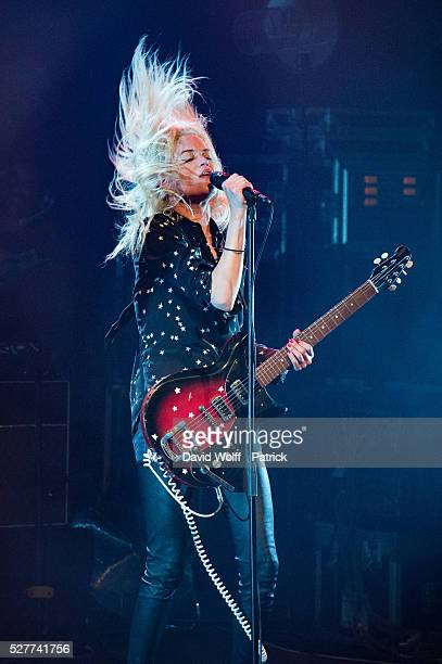 Alison Mosshart from The Kills performs at La Cigale on May 3 2016 in Paris France