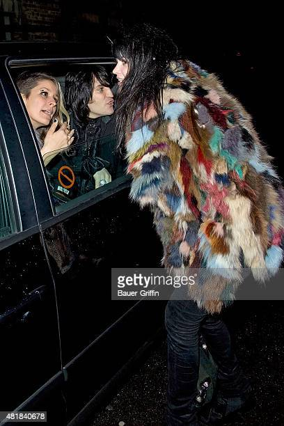 Alison Mosshart Noel Fielding and Lliana Bird are seen arriving at the NME Awards on February 23 2011 in London United Kingdom