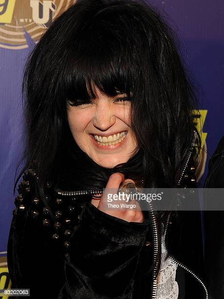 Alison Mosshart of The Dead Weather attends the 2009 mtvU Woodie Awards at the Roseland Ballroom on November 18 2009 in New York City