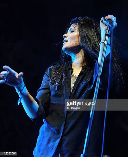 Alison Mosshart of The Kills and The Dead Weather performs during day 2 of the 2011 Coachella Music Festival at The Empire Polo Club on April 16 2011...