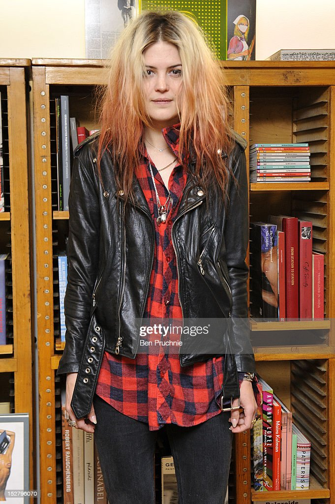Alison Mosshart of The Kills meets attends the 'Dream and Drive' book signing on September 26, 2012 in London, England.