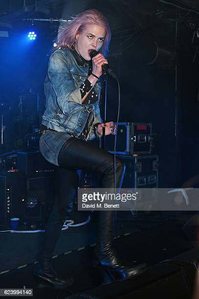 Alison Mosshart of The Kills performs at Diesel's #forsuccessfulliving party on November 17 2016 in London England