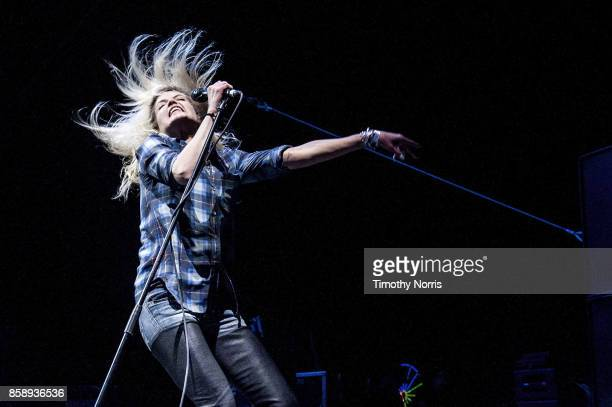 Alison Mosshart of The Kills performs at Glen Helen Amphitheatre on October 7 2017 in San Bernardino California
