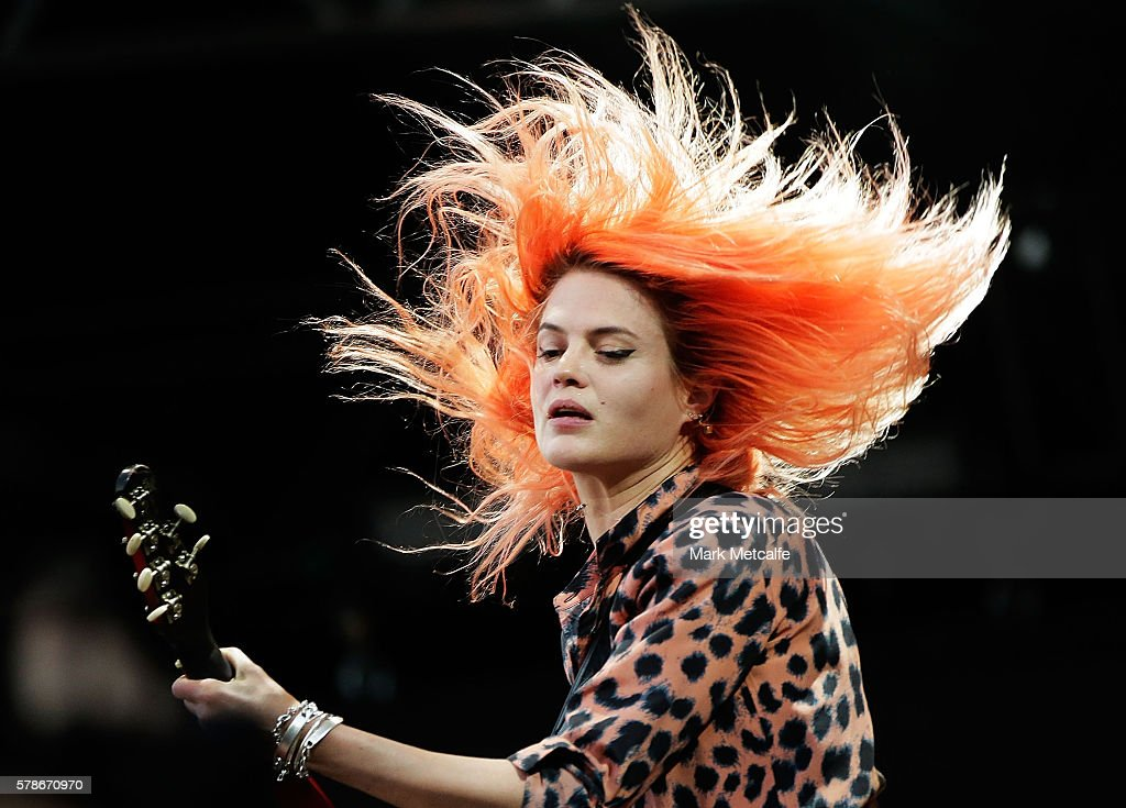 Alison Mosshart of The Kills performs during Splendour in the Grass 2016 on July 22, 2016 in Byron Bay, Australia.