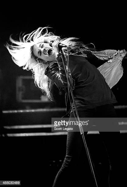 Alison Mosshart of The Kills performs in concert at Majestic Theater on December 10 2013 in Detroit Michigan