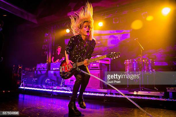 Alison Mosshart of The Kills performs onstage at Showbox SoDo on June 1 2016 in Seattle Washington