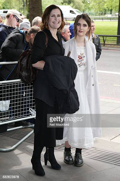 Alison Moyet and her daughter Alex seen arriving for the Ivor Novello Awards at Grosvenor House on May 19 2016 in London England
