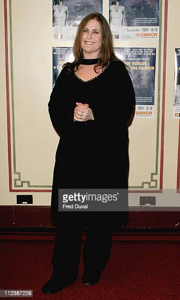 Alison Moyet during 'Refugees Voices A Concert For Darfur' at The Royal Albert Hall in London Great Britain