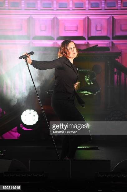 Alison Moyet performs an intimate gig at Round Chapel Hackney for Amazon Prime Live Events on June 12 2017 in London England