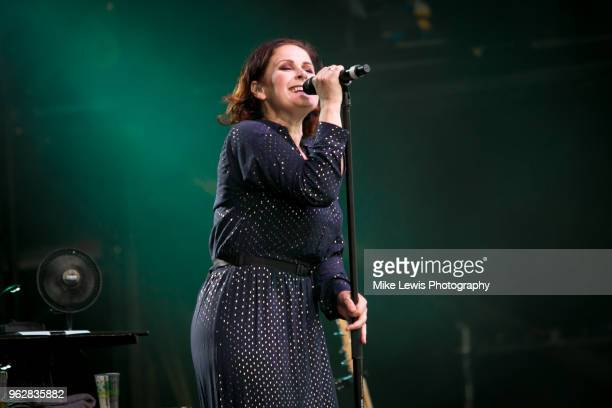 Alison Moyet performs at Bath Recreation Ground on May 26 2018 in Bath England