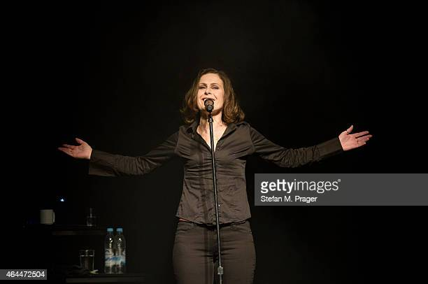 Alison Moyet performs on stage at Muffathalle on February 25 2015 in Munich Germany