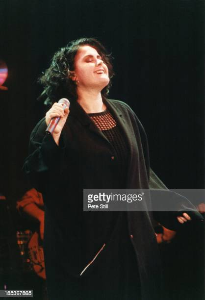 Alison Moyet performs on stage at 'The Simple Truth' concert in aid of Kurdish Refugees at Wembley Arena on May 12th 1991 in London England
