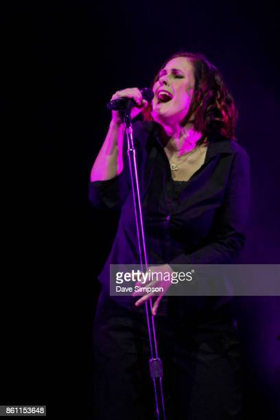 Alison Moyet performs on stage during her 'The Other' Tour at Spark Arena on October 14 2017 in Auckland New Zealand