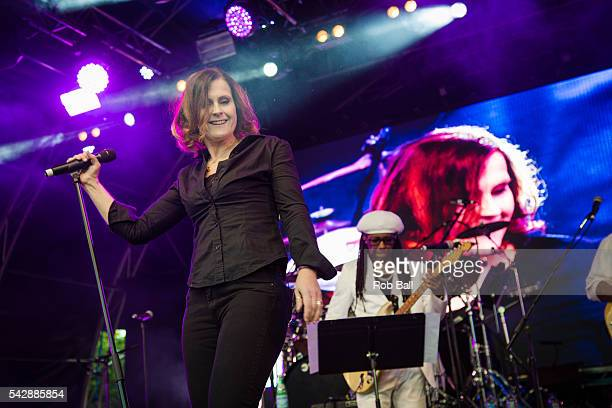 Alison Moyet performs with Chic at Fold Festival at Fulham Palace on June 24 2016 in London England