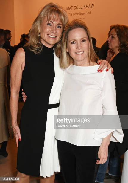 Alison Myners and Carolyn Dailey attend the Private View of 'Centrifugal Soul' by Mat Collishaw at Blain Southern on April 6 2017 in London England
