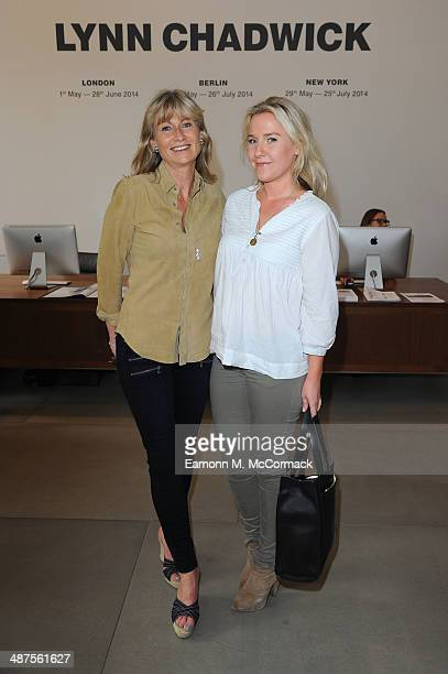 Alison Myners and Lucy Myners attend the private view for Lynn Chadwick Retrospectives at Blain Southern London on April 30 2014 in London England