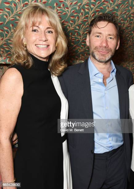 Alison Myners and Mat Collishaw attend a celebration of Mat Collishaw's Blain|Southern exhibition 'Centrifugal Soul' Upstairs at 5 Hertford Street on...