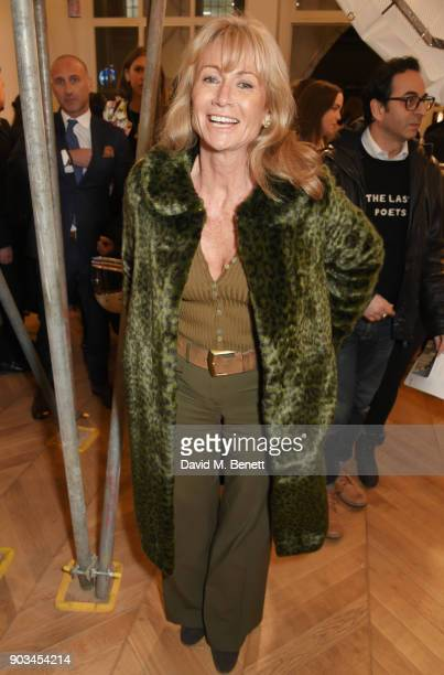 Alison Myners attends the private view of 'JR Giants Body of Work' at Lazinc on January 10 2018 in London England