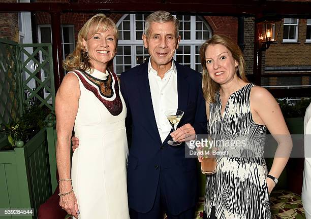Alison Myners Stuart Rose and guest attend the Fung LCM Dinner at Mark's Club on June 10 2016 in London England