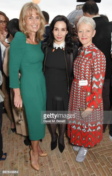 Alison Myners Tamara Rojo and Maria Balshaw attend the launch of new book 'Climate Of Hope' by Michael Bloomberg and Carl Pope at The Ned on June 5...