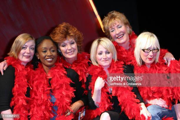 Alison Newman Diane Parish Rula Lenska Lucy Speed Christine Hamilton and Jenny Eclair