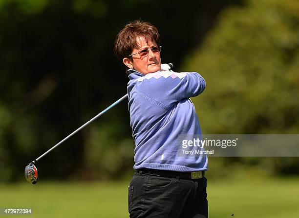 Alison Nicholas of Hagley Golf Club plays her first shot on the 15th tee during the Titleist and FootJoy Women's PGA Professional Championship...