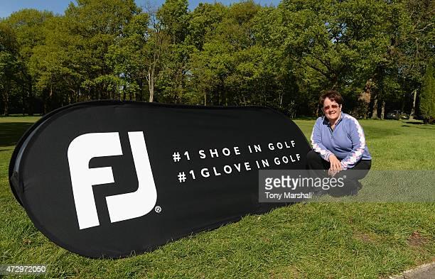 Alison Nicholas of Hagley Golf Club winner of the Titleist and FootJoy Women's PGA Professional Championship qualifier at Little Aston Golf Club on...