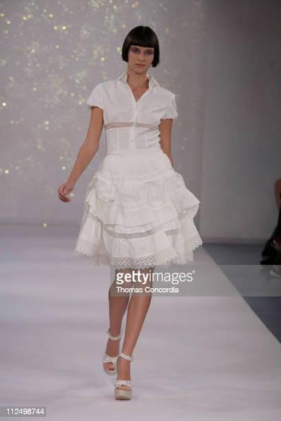 Alison Nix wearing Luisa Beccaria Spring/Summer 2007