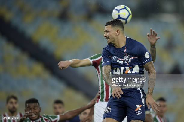 Alison of Santos in action during the match between Fluminense and Santos as part of Brasileirao Series A 2018 at Maracana Stadium on June 13 2018 in...