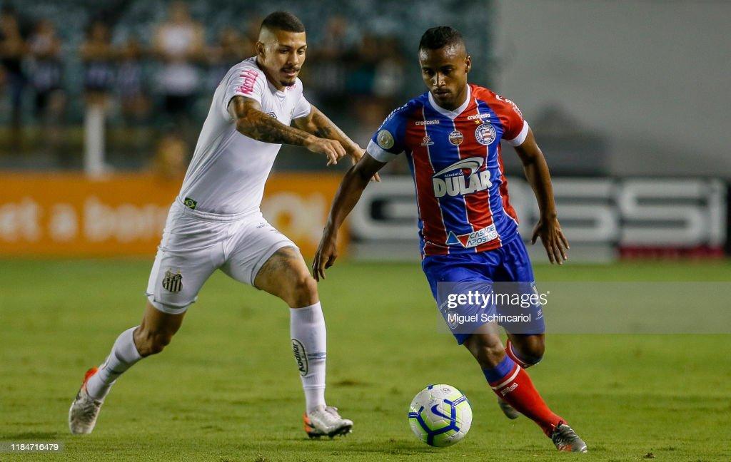 Santos v Bahia - Brasileirao Series A 2019 : ニュース写真
