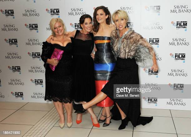 Alison Owen Kelly Marcel Ruth Wilson and Emma Thompson attend the Closing Night Gala European Premiere of 'Saving Mr Banks' during the 57th BFI...