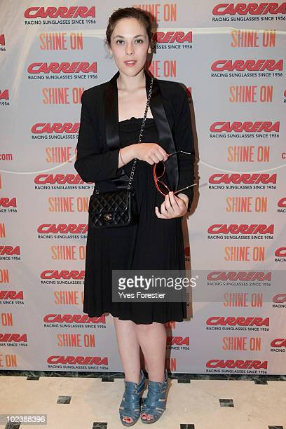 Alison Paradis attends to the Carrera private party at Shine on Terrace on June 24 2010 in Paris France