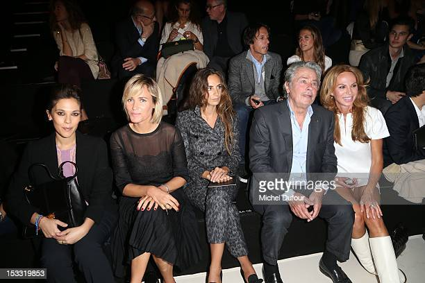 Alison Paradis Judith Godreche Alexia Niedzielski Alain Delon and Rosalie van Breemen attend the Elie Saab Spring/Summer 2013 show as part of Paris...