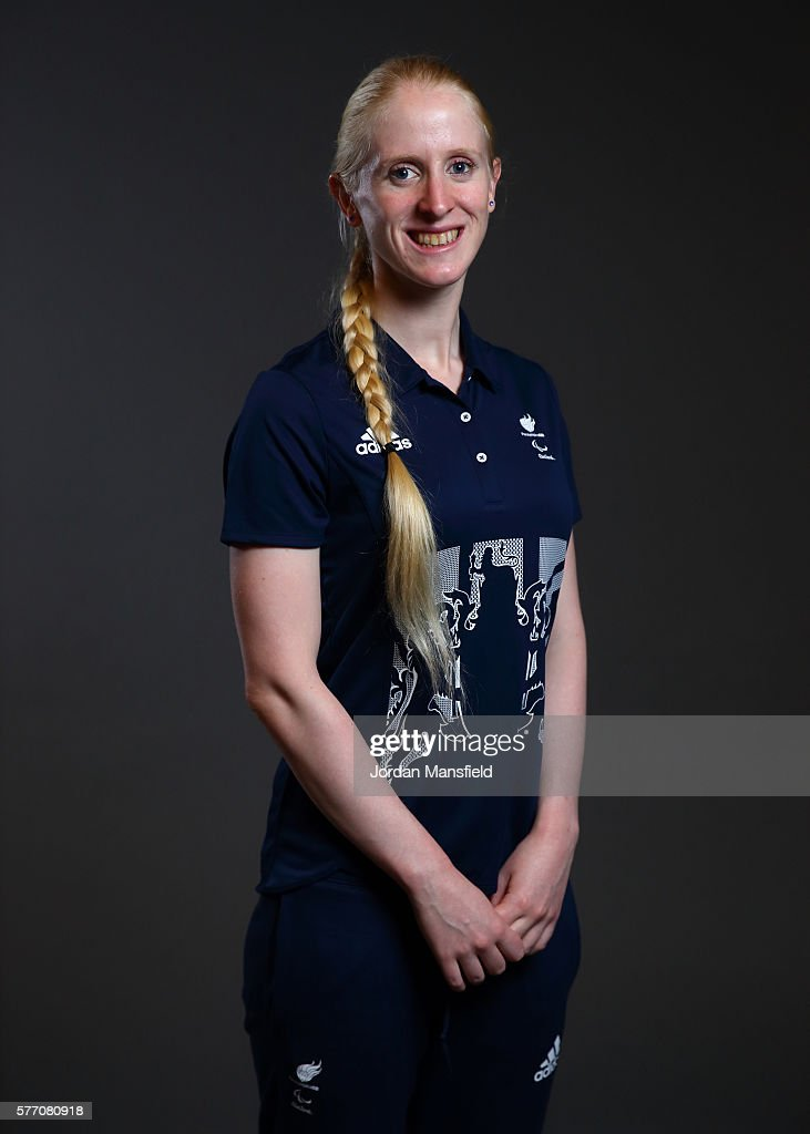 Alison Patrick, a member of the ParalympicsGB Triathlon team, poses for a portrait during the Paralympics GB Media Day at Park Plaza Westminster Bridge Hotel on July 16, 2016 in London, England.