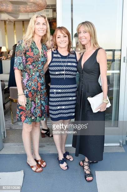 Alison Petrocelli Linda Rubin and Eve Gerber at Cuyana Essential Women Event on July 26 2017 in West Hollywood California