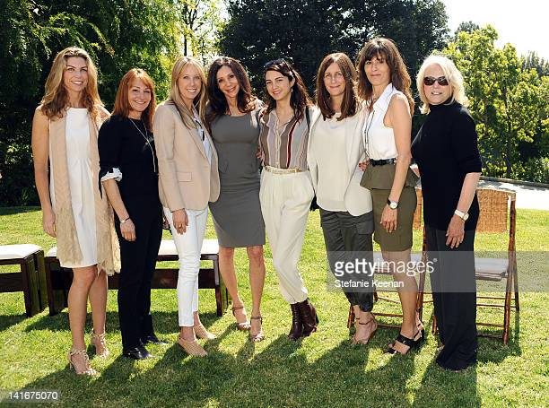 Alison Petrocelli Linda Rubin Eve Somer Gerber Fran Lasker Shiva Rose Molly Isakson and Astrid Heger attend Annual HEART Brunch at Private Residence...