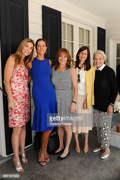 Alison Petrocelli Mareva Georges Linda Bernstein Rubin Molly Isaksen and Astrid Heger attend Heart Annual Brunch With Stella McCartney on April 16...