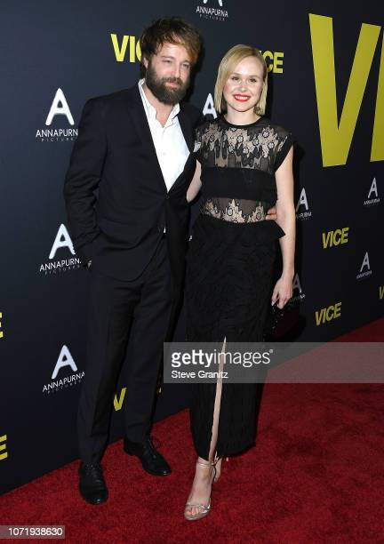 Alison Pill and husband actor Joshua Leonard arrives at the Annapurna Pictures Gary Sanchez Productions And Plan B Entertainment's World Premiere Of...