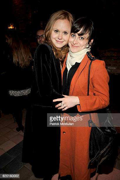 Alison Pill and Jenn Schatz attend THE CINEMA SOCIETY DETAILS host the after party for MILK at Bowery Hotel on November 18 2008 in New York City