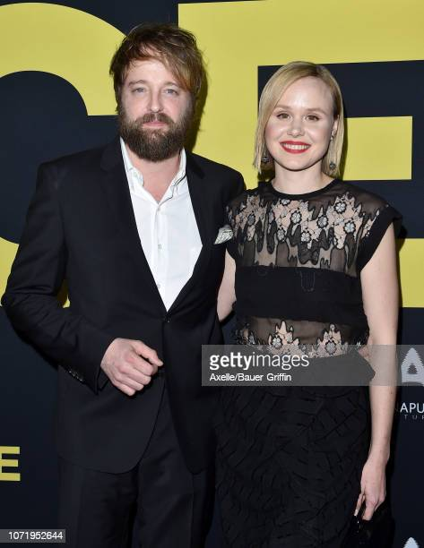 Alison Pill and Joshua Leonard attend Annapurna Pictures Gary Sanchez Productions and Plan B Entertainment's World Premiere of 'Vice' at AMPAS Samuel...