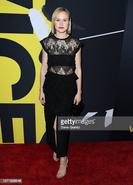 Alison Pill arrives at the Annapurna Pictures Gary Sanchez Productions And Plan B Entertainment's World Premiere Of 'Vice'at AMPAS Samuel Goldwyn...