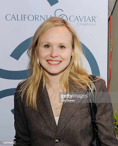 Alison Pill attends GBK's Luxury Lounge During Golden Globe Weekend Day 1 at L'Ermitage Beverly Hills Hotel on January 11 2013 in Beverly Hills...