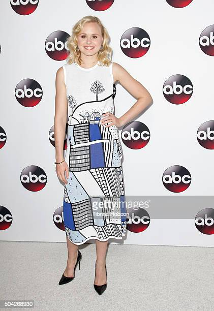Alison Pill attends the Disney/ABC 2016 Winter TCA Tour at Langham Hotel on January 9 2016 in Pasadena California